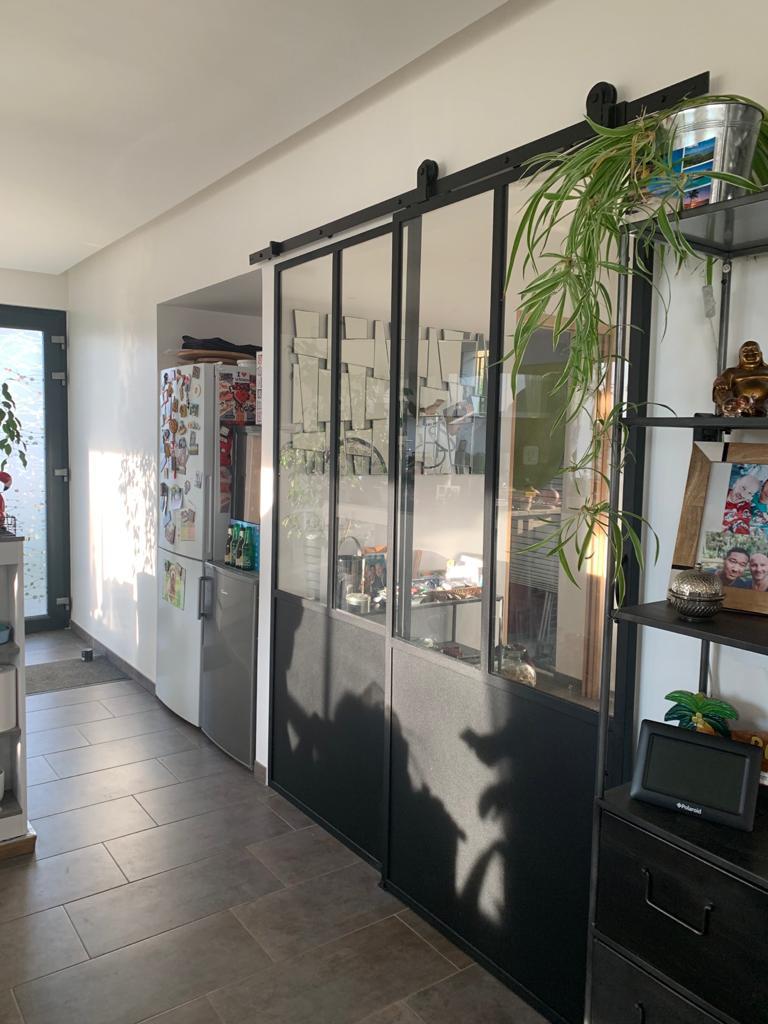 photo porte vitrée intérieure en acier MVS 78